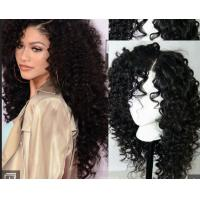 China Brazilian Curly Swiss Human Hair Full Lace Wigs For Black WomenWith Baby Hair wholesale