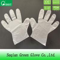 Quality Clear Disposable PE Plastic Polyethylene Gloves Industry Grade FDA / CE for sale