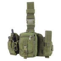 Buy cheap Flashlight Molle Magazine Pouches / Triple Magazine Pouch Leg Rig from wholesalers