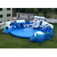China Snow N ice world giant inflatable water park on land with big inflatable pool for kids N adults wholesale