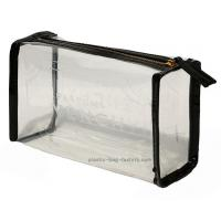 Quality Transparent clear PVC cosmetic make-up bag / pouch with perfect imbossed logo for sale