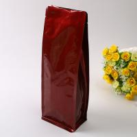 China Laminated Aluminum Foil Ziplock Bag Matte Surface With Zipper And Valve wholesale