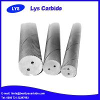 China Tungsten carbide rod with double helix holes wholesale