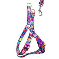 China custom print Design Reflective Bungee Hands Free Dog Leash with Waist Belt wholesale