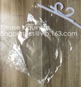 China Custom Logo Printing EVA Garment Underwear Clothes Packaging Transparent Button Pvc Soft Plastic Hanger Hook Bag, BAGEAS wholesale