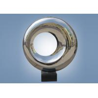 China Outdoor Indoor Mirror Stainless Steel Sculpture Doughnut Shape WS-ST048 wholesale