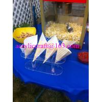 China 4 Holes Transparent Acrylic Popcorn Cone Display Stand wholesale