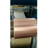 China Red Copper Coated Aluminum Coil , Composite Roll Customized Size High Stability wholesale