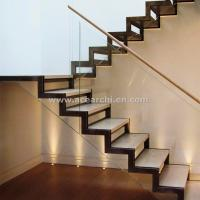 China Modern Design Zig Zag Staircase Beam Double Stringer Straight Staircase wholesale