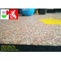 China Fitness Center Interlocking Rubber Floor Tiles , Industrial Rubber Matting Roll on sale