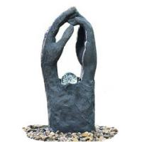 China Modern Garden Fountains / Decorative Indoor Water Fountains In 2 Hands Shape wholesale