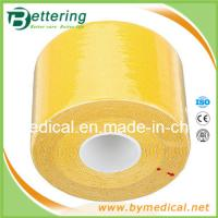Elastic cotton sports therapy tape 5cmX5m yellow colour