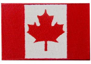 China Canada 7.5CM Country Flag Patches wholesale
