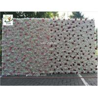 China UVG 8ft high pink realistic fake roses wedding flower wall backdrops for photography CHR1136 wholesale