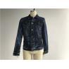 China Dark Mottled Wash Mens Denim Jacket And Jeans / Denim Jean Jacket TW76378 wholesale
