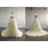 China European Multi Colored Wedding Dress / Elegantly Lace Colored Wedding Dresses wholesale