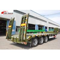 China Strong Bearing Capacity Low Loader Semi Trailer , Steel Heavy Duty Low Bed Trailers wholesale