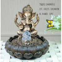 China Indian Polyresin Water Fountain With Revolving Ball , Electricity Pump Power wholesale