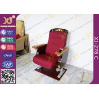China Antique Golden Paint Veneer Theatre Seating Chairs With Solid Wood Armrest / Cup holder wholesale