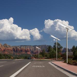 Buy cheap Powder Coating Column Solar Street LED Light Multi-function Smart Grid from wholesalers