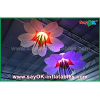 China LED Hang Flower Inflatable Lighting Decoration Nylon Cloth For Advertising / Event wholesale