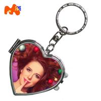 China Fancy Dye Sublimation Compact Mirror For Craft Box Mirror Keyring wholesale