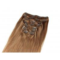 China Pre-bonded Brazilian Tangle Free Clip In human Hair Extensions Straight 24 inch human Hair wholesale