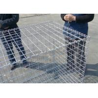 China Rust Proof Galfan Coated Welded Gabion Box , 30CM*50CM*1M Hot Dipped Galvanized Welded Stone Box wholesale