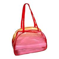 China 0.30MM Clear PVC Bags , Flocking Makeup Bag For Travel / Home wholesale