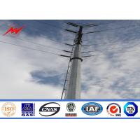 China 132KV hot galvanization electrical power pole for electrical line wholesale