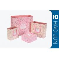 China Custom Boutique Shopping Bags 100% Recyclable Gift Paper Bags Pink Color wholesale
