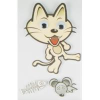 China Funny Reusable Kawaii Cat Stickers , Die Cut Multilayer Custom Paper Stickers wholesale