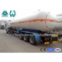 China Round Shape Large Capacity Gas Tank Semi Trailer Anti - Corrosion Propane wholesale