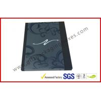 Quality Black Drawer Luxury Gift Boxes Foil  Logo In Silver With PVC Sleeve for sale