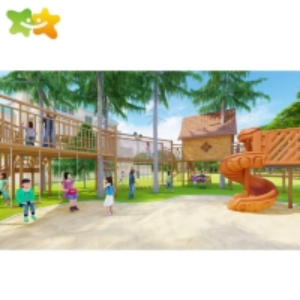 China Custom Size Kids Outdoor Playground Equipment Garden wholesale