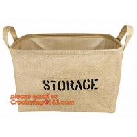 China 100% jute storage basket,natural jute material collapsible decorative storage basket,Home handmade jute woven rope toy s wholesale