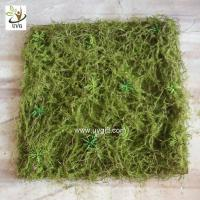 China UVG 30cm micro soft artificial grass mat with nylon moss for beach wedding decor GRS042 wholesale