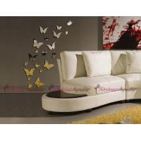 DIY 3D Modern 20pcs Butterfly Wall Stickers Silver Acrylic Mirror Surface Wall