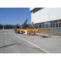 China 3 Axle 20/40/45ft Flatbed Container Trailer High Tensile Q345B Material wholesale
