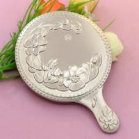 China Mini Portable Make Up Mirror / Sterling Silver Compact Mirror For Purse wholesale