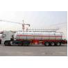 China Liquefied Gas Semi-trailer / Gas Tanker Truck Capacity 39500L / 3 Axles wholesale