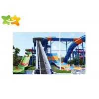 China Classic Speed Water Slide , Splash Water Slide Customized Variable Slope Spiral Design wholesale