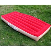 China Non-Phthalate PVC Inflatable Air Beds Red Portable For One Person wholesale