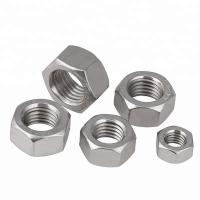 China Auto Parts Stainless Steel Hex Nuts Passivated Fine Thread Zinc Plated Finish wholesale
