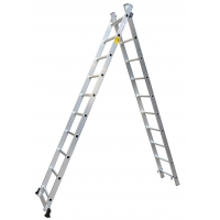 China Anti Slip 7.32m 2x15 Foldable Extension Ladder wholesale