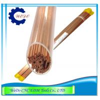China Dia 0.6mm EDM Copper Eletrode Tube / Pipe Double Holes  For EDM Drill Machine wholesale