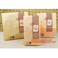 China Professional Food Safe Opp Clear Window Paper Bags Offset Printing, OEM Block Bottom Bags Tin Tie White Paper bags with wholesale