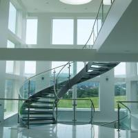 China Good Price Commercial / Residential Stainless Steel Prefabricated Curved Stairs wholesale
