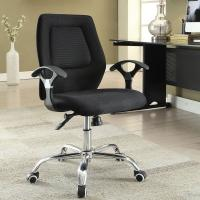 China Ergonomic Home Office Computer Chair Adjustable Height With Armrest / Wheels wholesale