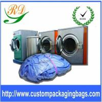 China Blue / Yellow Biodegradable Plastic Drawstring Laundry Bags For Hotel / Hospital on sale